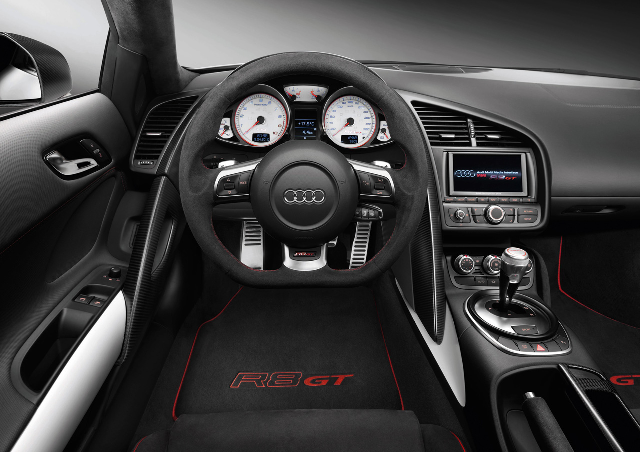 Interieur audi  Audi R8 GT - Inside Lane