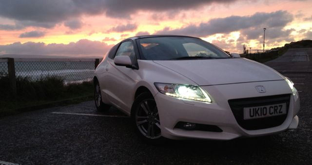 Honda CR-Z sunset front