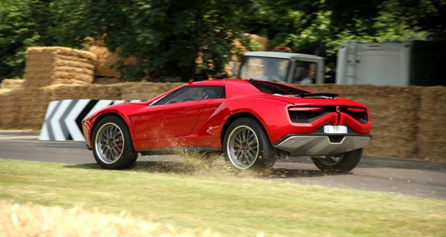 Italdesign Giugiaro Parcour Concept crash Goodwood slide
