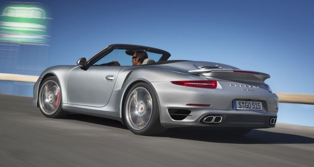 Porsche 911 Turbo S Cabriolet rear