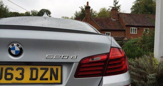 2013 BMW 520d M Sport rear close