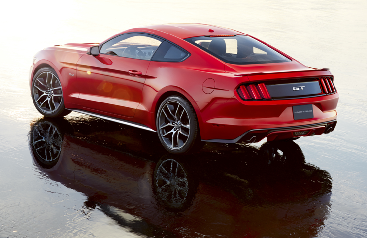 2014 Ford Mustang rear beach