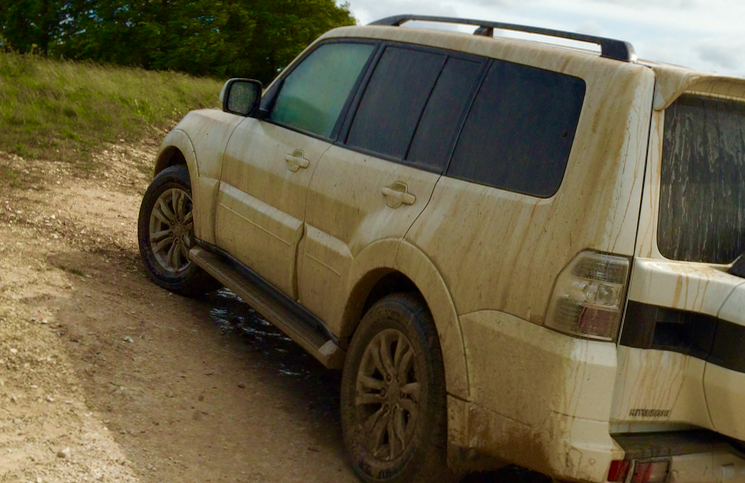 2015 Mitsubishi Shogun LWB off road rear