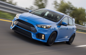 2016 Ford Focus RS Nitrous Blue front driving