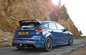 2016 Ford Focus RS blue back