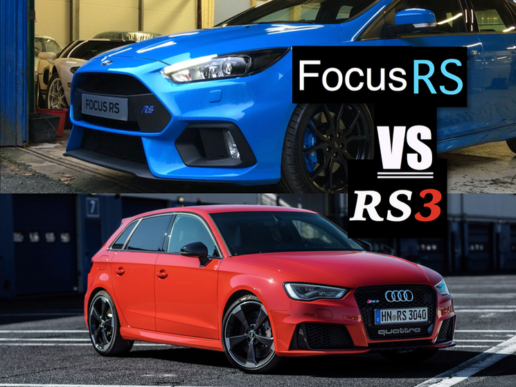 2016 Ford Focus RS vs Audi RS3 Sportback